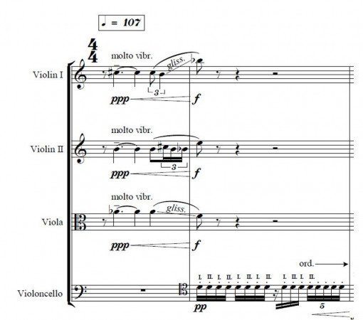 score of the new pieces